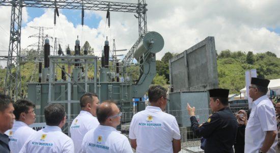 Resmikan Proyek Listrik 450 KV di Aceh Tengah