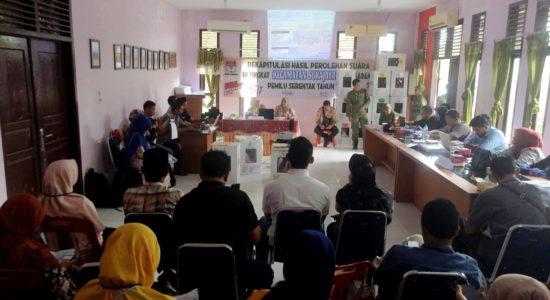 Rekapitulasi Tingkat Kecamatan di Sabang Aman