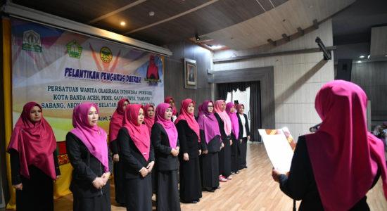Lantik Sejumlah ketua Perwosi Kabupaten se Aceh