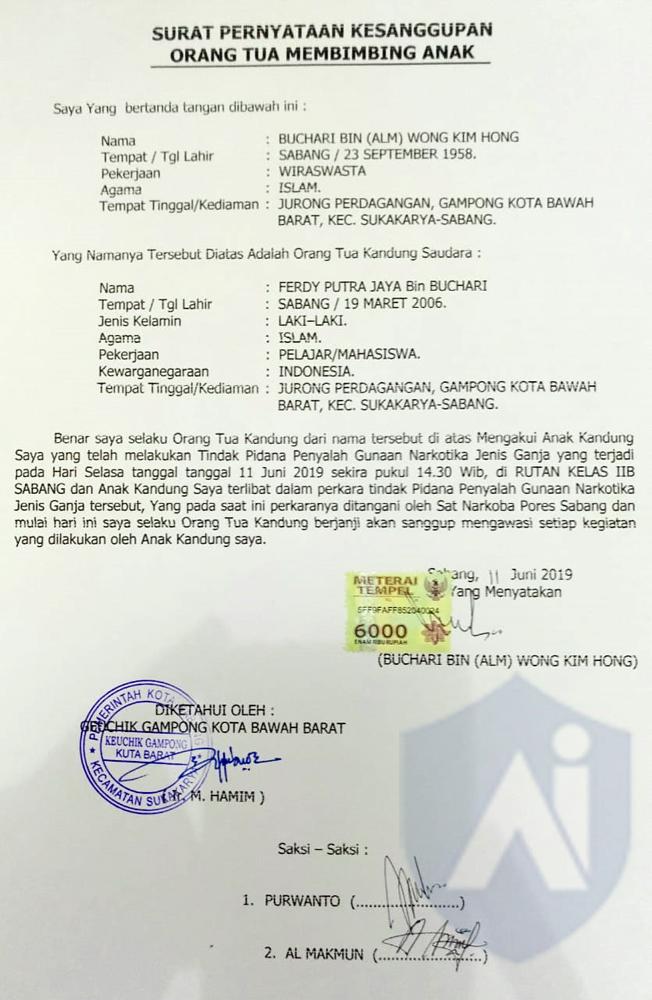 Dilepas Dengan Jaminan Orang Tuanya Acehimagecom