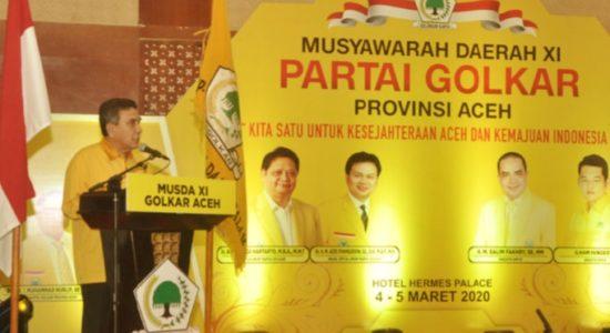 Pengurus DPD I Golkar Aceh Didominasi Kalangan Milenial