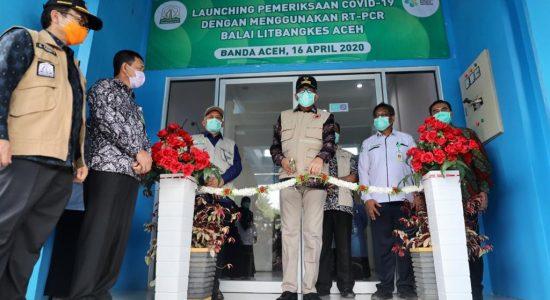 Plt Gubernur Aceh Resmikan Lab Pemeriksaan Sampel Covid-19