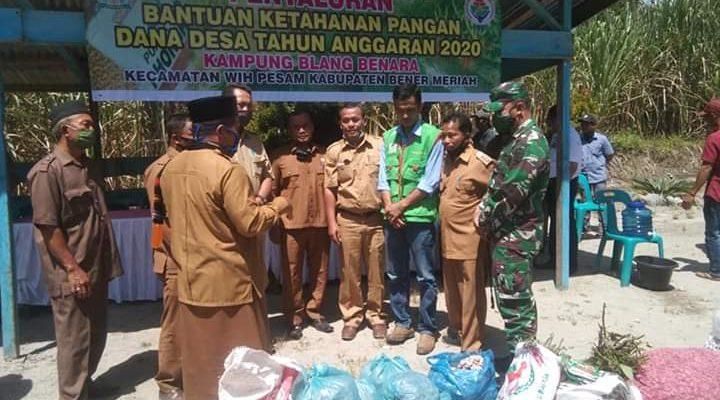 Bupati Bener Meriah Salurkan Bantuan Ketahanan Pangan