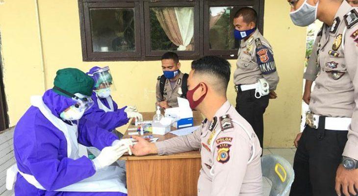 Satu Anggota Polres Aceh Utara Reaktif COVID-19 Hasil Rapid Test