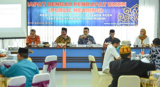 Dewan Kota Gelar RDPU Raqan Pemerintahan Mukim
