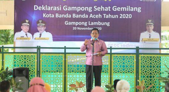 """Aminullah Deklarasikan Lambung """"Gampong Ceudah"""""""