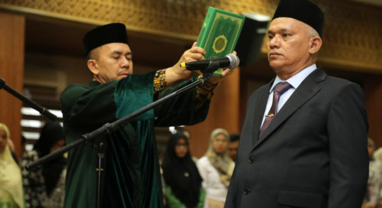 Lantik Taqwallah Sebagai Sekda Aceh