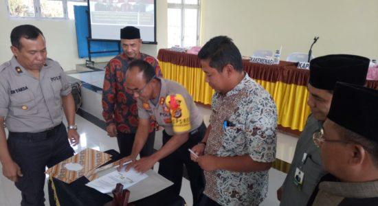 Polres Bener Meriah Jalin MoU dengan Pemkab