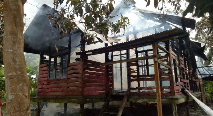 Satu Unit Rumah di Aceh Utara Hangus Terbakar