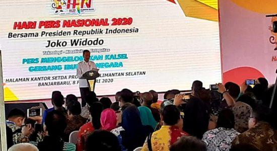 Jokowi Tegaskan Komitmen Dorong Kemajuan Kalsel-Kaltim
