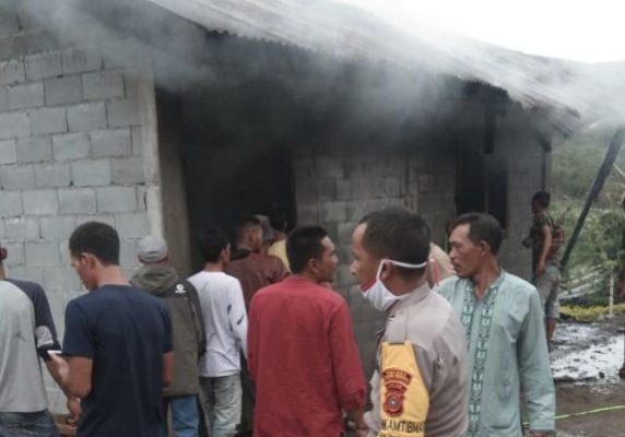 Satu Unit Rumah Warga di Kampung Jungke Hangus Dilalap Api