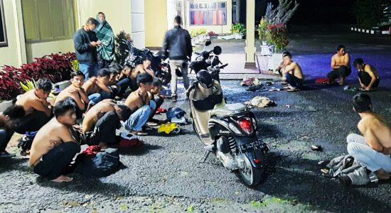 Polisi Amankan Puluhan Pemuda Balapan Liar
