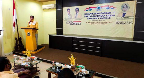 Musda Golkar Simeulue Berlangsung di Banda Aceh