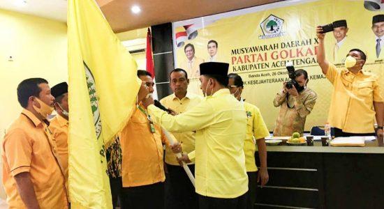 Muchsin Hs Pimpin Golkar Aceh Tengah, Terplilih Secara Aklamasi