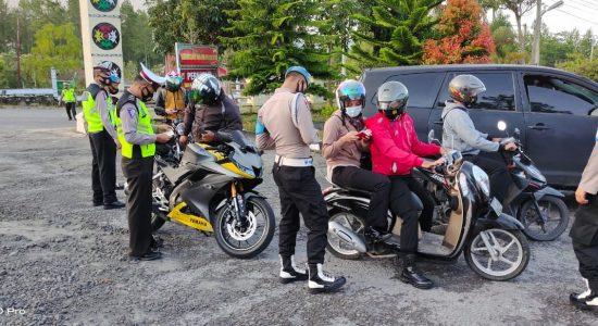 Tiga Personel Polres Bener Meriah Terjaring Razia
