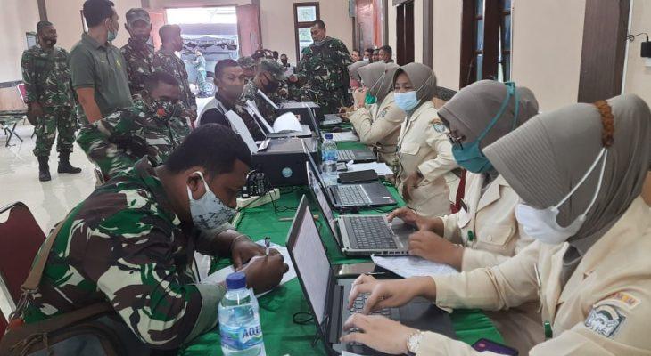 Ratusan Prajurit Kodim Aceh Utara Divaksin