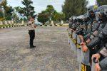 Personel Polres Bener Meriah Ikuti Latihan Pengendalian Massa