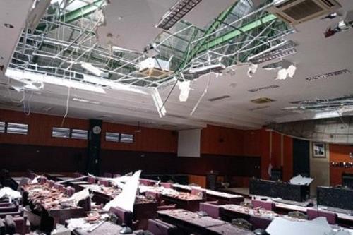 Gempa Malang Rusak Gedung DPRD Blitar