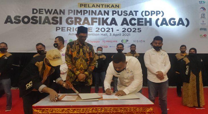 Staf Ahli Gubernur Aceh Lantik Kepengurusan AGA