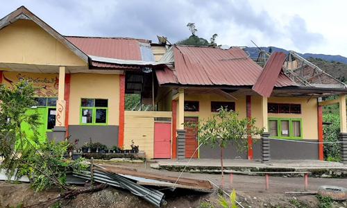 Puting Beliung Rusak Atap Bangunan SD Negeri Seni Antara
