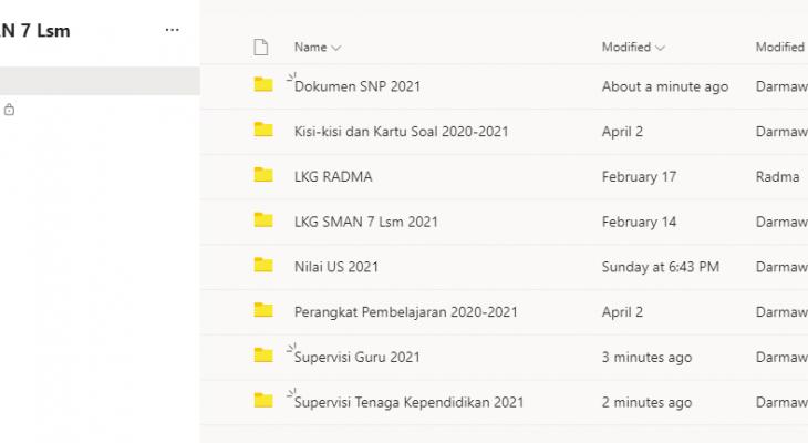 Kembangkan E-Arsip Berbasis Microsoft