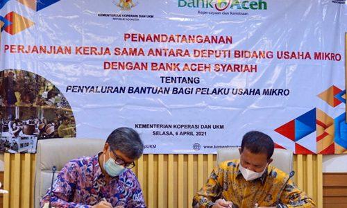 Bank Aceh Syariah Resmi Sebagai Penyalur BPUM Tahun 2021