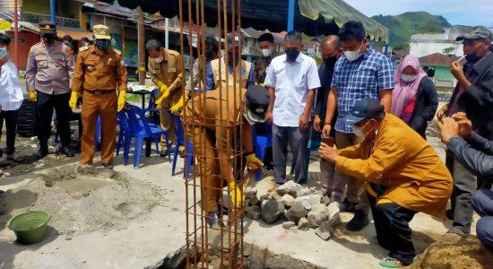 Plt Bupati Bener Meriah Laksanakan Peletakan Batu Pertama Pembangunan Rumah Korban Kebakaran