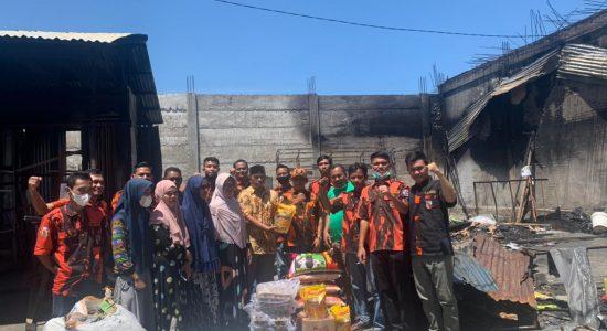 Ormas Pemuda Pancasila Aceh Selatan Bantu Korban Kebakaran