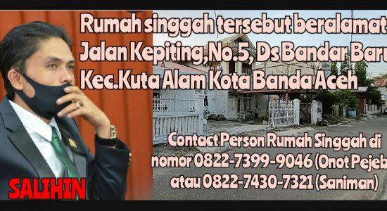 Rumah Singgah Salihin Pindah Dekat  RS Zainoel Abidin