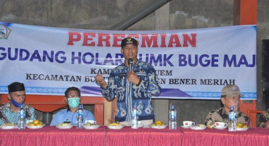 Gudang Holen Milik BUMK Kampung Meluem Resmi Beroperasi
