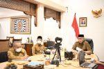 Gubernur Aceh Ikut Rakor Monev MCP Tahun 2021
